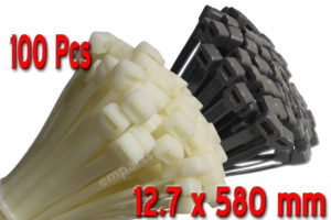 100 Strong Cable Ties 100 140 200 300 370 530 580 710 2.5 3.6 4.8 7.6 9 12.7 mm